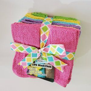 Other - Multicolor Washcloths Set of 12 Colorful Dishcloth